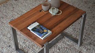 Steel wood table