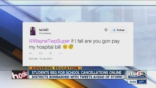 Students beg for school cancellations online