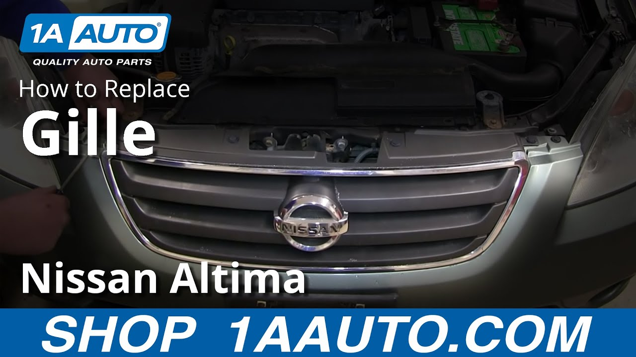 How To Remove Install Front Grill 2002 06 Nissan Altima   YouTube