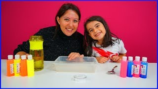 RÜYA VE ÖZLEM SLİME YAPIYORLAR l Slime Videos For Kids With Rüya
