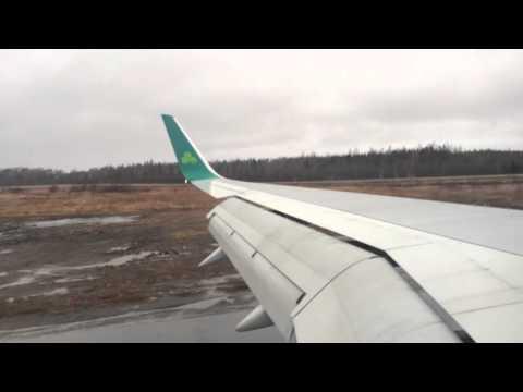 Aer Lingus 757 landing in Gander