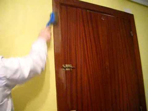 Takotex en una puerta youtube - Como pintar puertas de sapeli ...