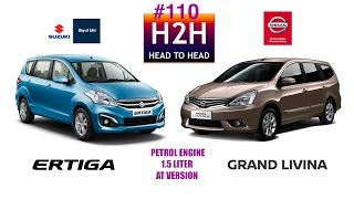 Head2Head #110 Suzuki ERTIGA vs Nissan GRAND LIVINA