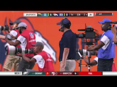 Madden 17 franchise NFLcz Week 1 Broncos @ Chargers