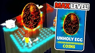 GETTING MAX LEVEL EGG in roblox clicker