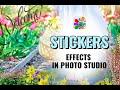 Stickers in Photo Studio | Add sticker to photo | Photo Editor