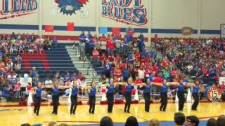 Graham HS Bella Blues Drill Team Pep-rally 10/16/1