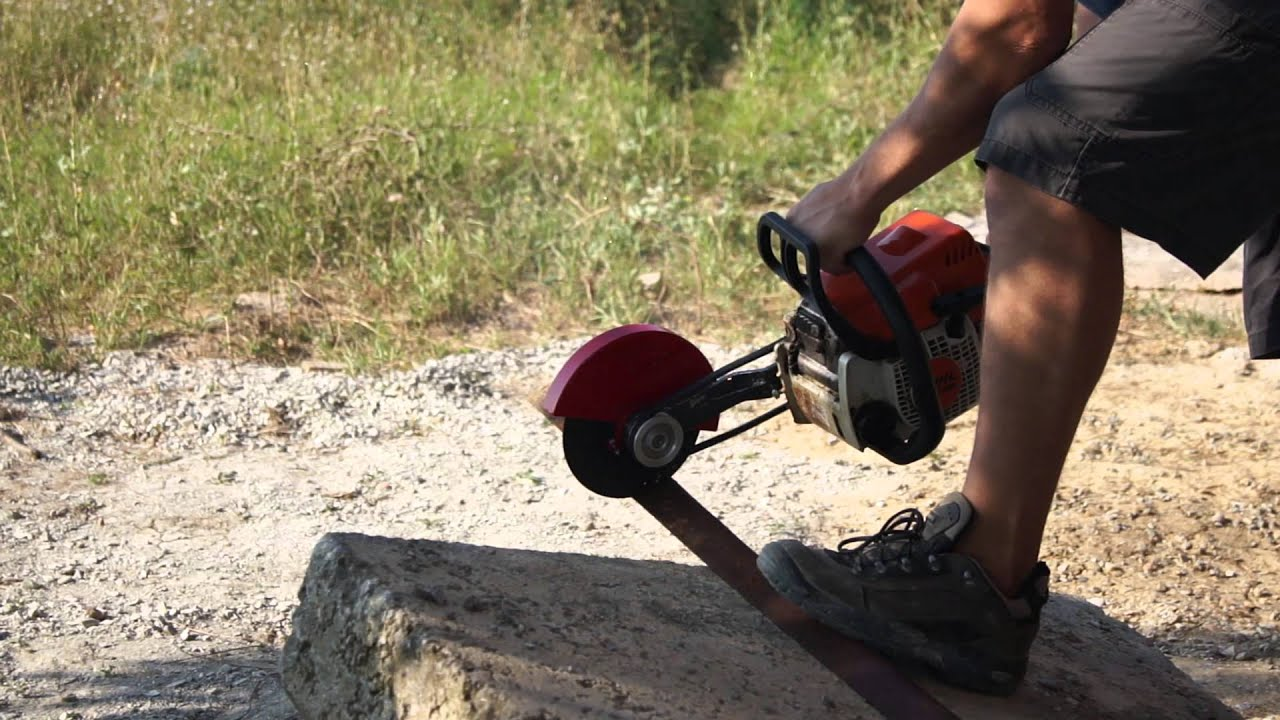 Chainsaw Angle Grinder Cutter Attachment Youtube