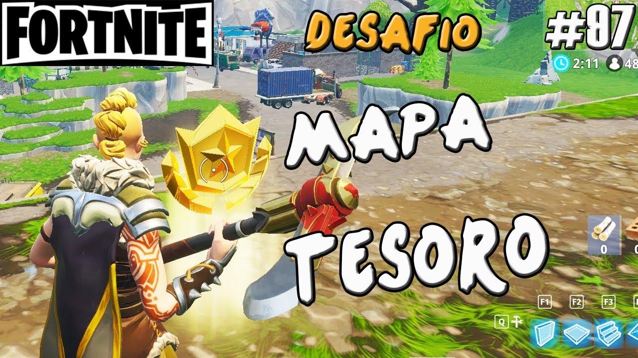 Mapa Fortnite Temporada 5 Español.Desafio Fortnite Temporada 5 Mapa Tesoro De Carretes Comprometidos Guia Battle Royale Espanol