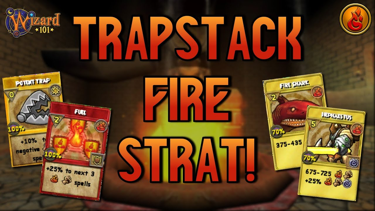 WIZARD101 MAX FIRE PvP (130): The TRAPSTACK Strat!