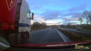 HGV nearly wipes me out on M90 Motorway.