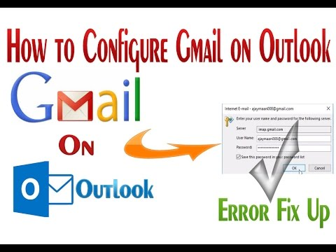 How to configure Gmail on outlook 2013/2016 and problem fixup-IMAP