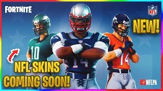 *NEW* NFL SKINS COMING TO FORTNITE! | Fortnite News