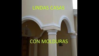 LINDOS DISEÑOS DE  CASAS CON MOLDURAS_CUTE HOUSE DESIGNS WITH MOLDINGS.