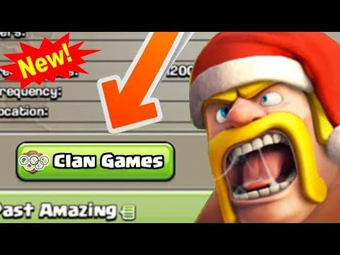NEW WINTER UPDATE: Clan Games! | Clash of Clans December 2017 Update News