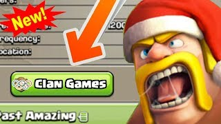 NEW WINTER UPDATE: Clan Games! | Clash of Clans December 2017 Update News