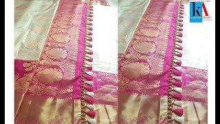 Making of Saree tassels/kuchu using beads // latest saree kuchu design