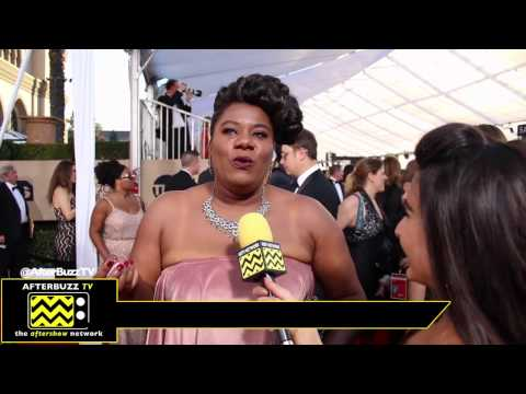 Adrienne C. Moore talks about her experience getting her SAG card @ 2017 SAG Awards