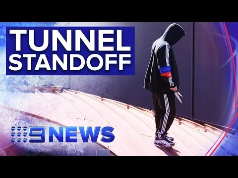 Armed Man Shuts Down Major Brisbane Tunnel For 7 Hours | Nine News Australia