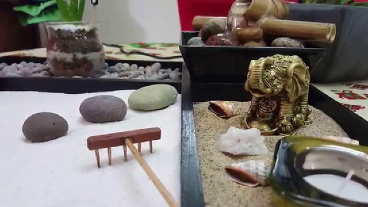 Jardin zen con fuente de agua en miniatura youtube - Plantas para jardin zen ...