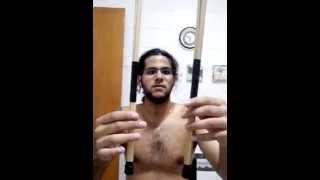 Como fazer baqueta acústica vassourinha vareta