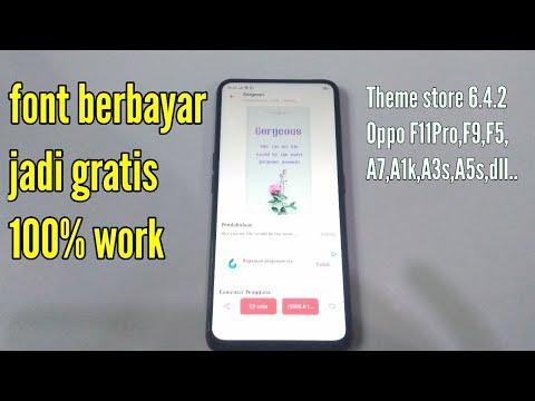 Trik Merubah Font Berbayar Jadi Gratis Di Tema Store Secara Permanen Youtube