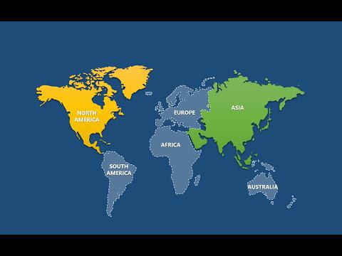 Continent World Keynote maps: Eurasia, Africa,  America, Australia