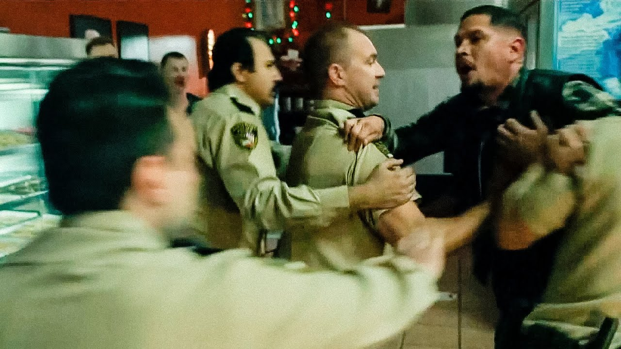 Download Mayans MC 3x08 Scuffle with police. Fight scene
