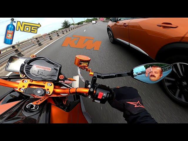 JE TESTE UN KTM 1290 SUPERDUKE R..HORS NORME ! 265ch / 179KG + KIT NOS ! (Du Nitro ! )