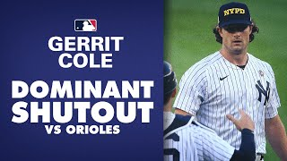 Yankees gerrit cole shuts out orioles with 9 ks!