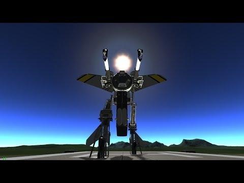 KSP - The story of Mr. Roboto (a bipedal transformer robot)