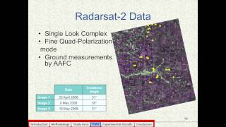 Habib Mazaheri - Soil moisture estimation using polarimetric Radarsat-2 data