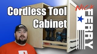 How To Make A Cordless Tool Cabinet (ep34)