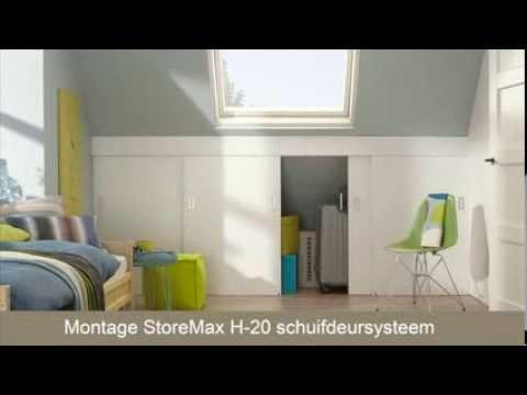 Kast Met Schuifdeuren : Schuifdeuren maken met storemax h youtube