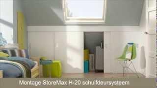 Schuifdeuren maken met StoreMax H-20