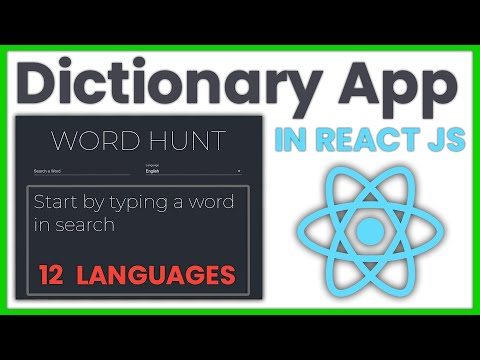12 Language Dictionary App in React JS [ FULL TUTORIAL ] | Material UI | Beginners Project with API