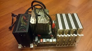 Absolute noiseless Mining farm 4 x 1050 Ti KalmX (Абсолютно бесшумная майнинг-ферма)