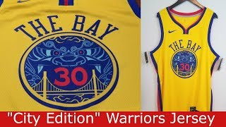 """City Edition"" Nike NBA Golden State Warriors  Stephen Curry Swingman Jersey Review"