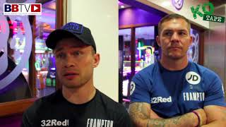 CARL FRAMPTON MBE AND JAMIE MOORE: WARRINGTON, TABLE TENNIS, MASSIVE WINDSOR PARK SHOW