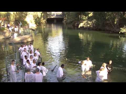 Baptism -  Jordan River Israel Tour