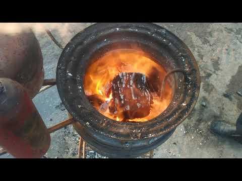 Burning Water !!!Вода горит как топливо!!! 4 литра воды 2литра отработки горит 2часа.