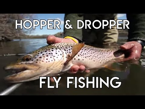 Fly Fishing With Deadly Hopper & Dropper System | River Fishing