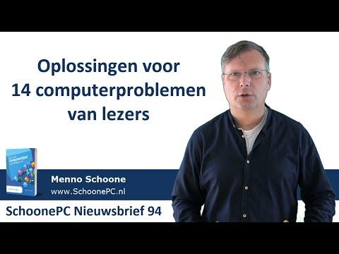 Oplossingen Voor 14 Computerproblemen (SchoonePC Nieuwsbrief 94)