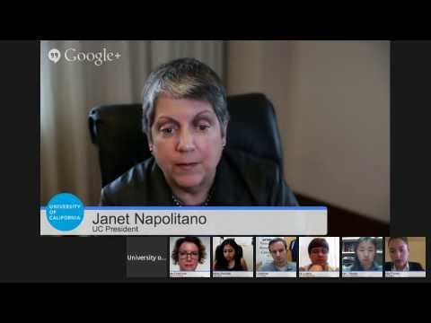 UC Student Hangout with President Janet Napolitano