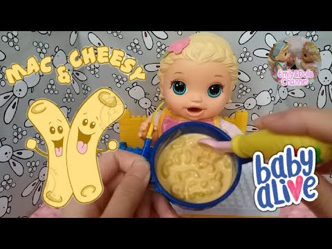 Baby Alive Feeding Video|Feeding Baby Alive Super Snackin' Lily Mac & Cheese🧀(with Play Dou Recipe)