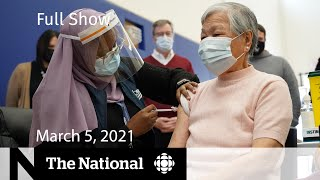 CBC News: The National | Johnson & Johnson vaccine approved; Ontario ramps up rollout |March 5, 2021