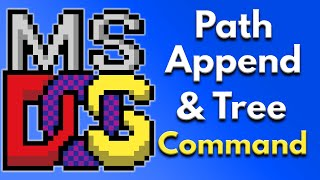 how to set environment variables for msdos using the path append and tree command Video