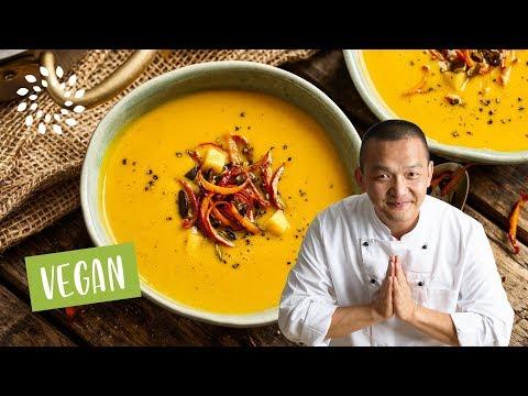 Kürbissuppe mit Mango