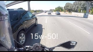 Switched From 10w-40 to 15w-50 on 2017 Kawasaki Z650 | Motovlog #8