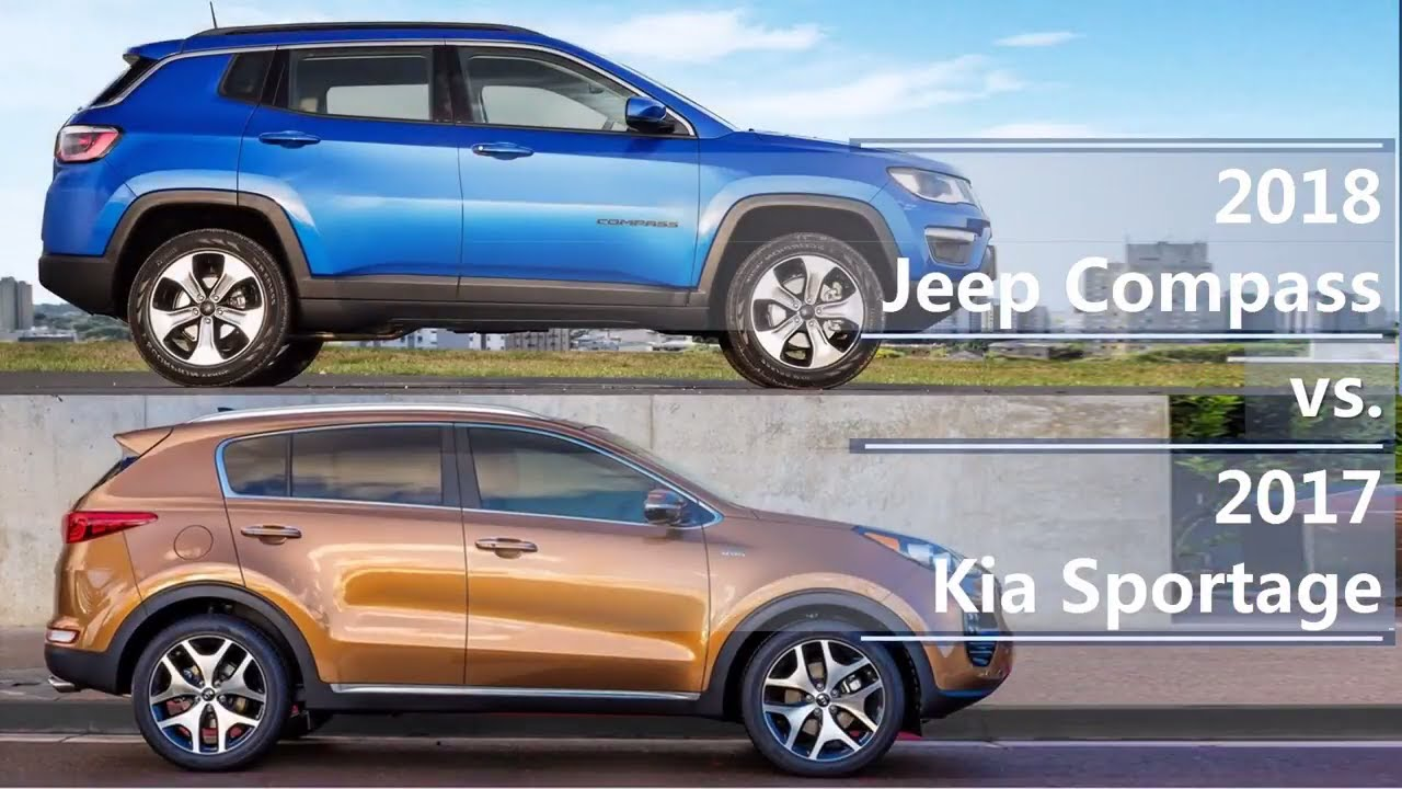 2018 Jeep Compass Vs 2017 Kia Sportage Technical Comparison Youtube